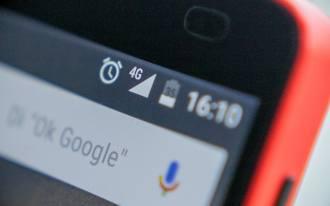 Tela do smartphone exibindo o 4G ativo.