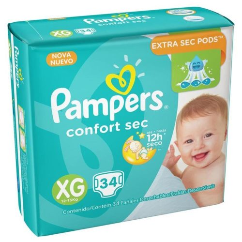 Fraldas Pampers Confort Sec.